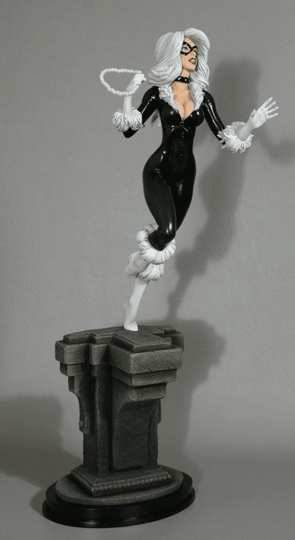 Bowen Designs Black Cat Retro Statue