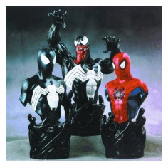 Bowen Designs Spider-Man Venom Triple Pack Mini Bust Set