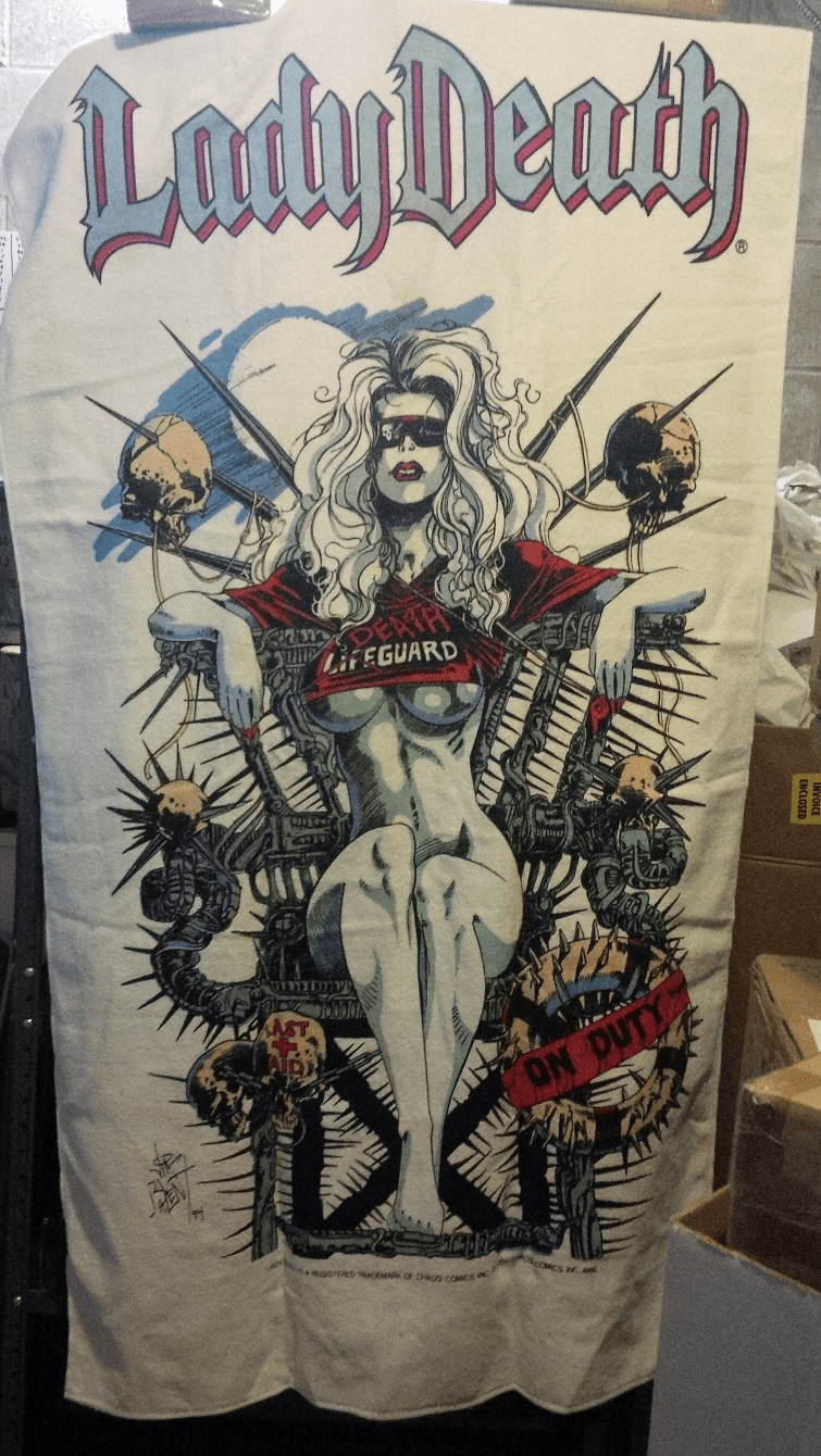 Chaos! Comics Lady Death Lifeguard Beach Towel