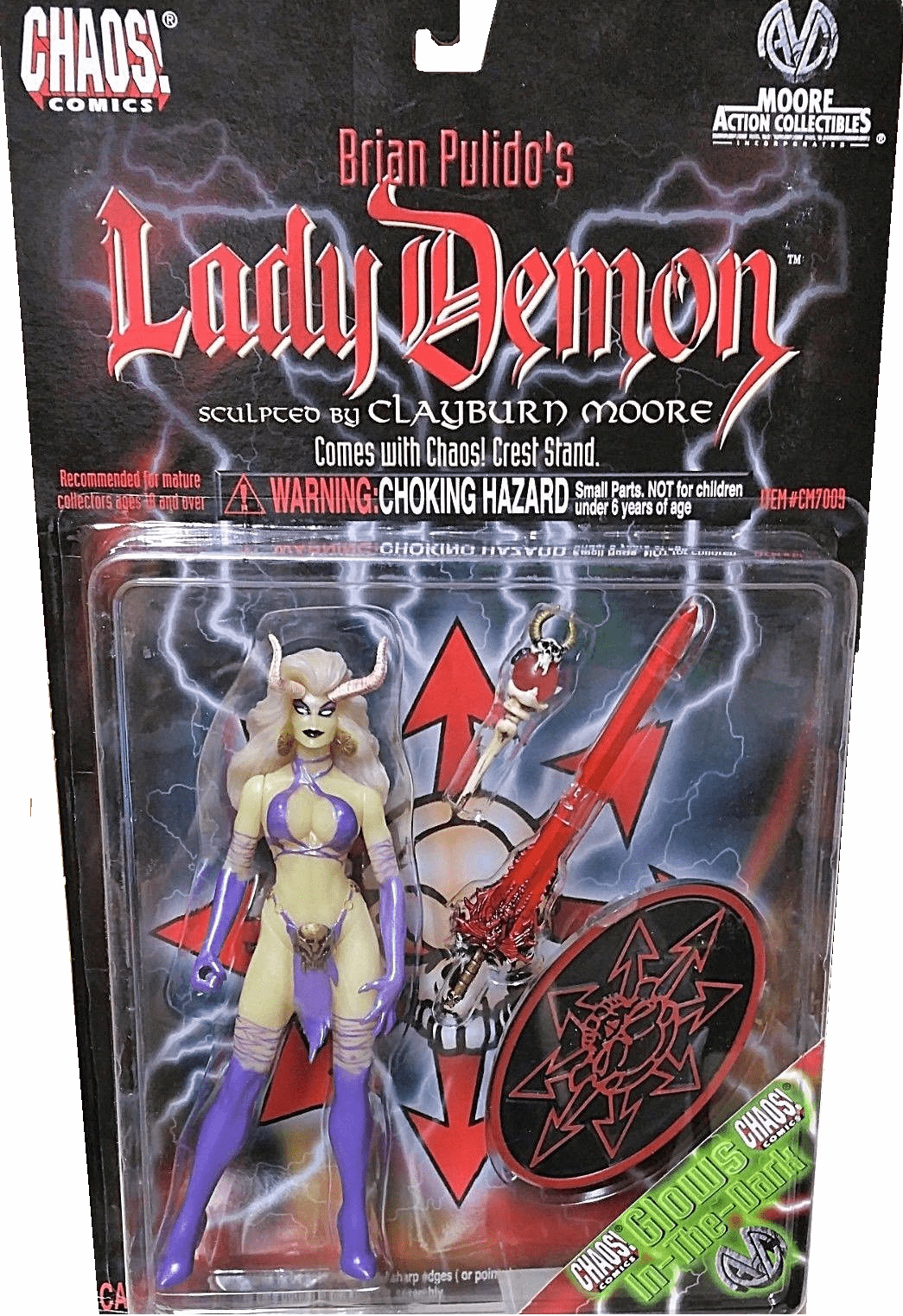 Moore Action Collectibles Glow-in-the-Dark Lady Demon Figure