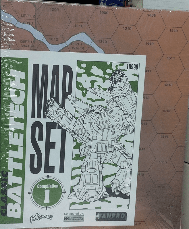 Classic Battletech Miniatures Map Set Compilation #1
