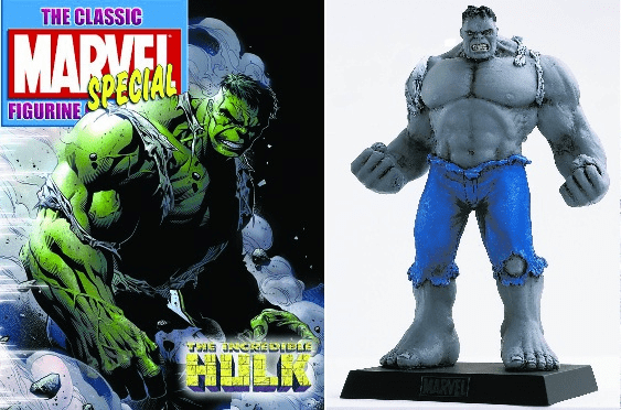 Classic Marvel Figurine Collection Magazine Special Grey Hulk