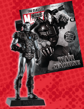 Classic Marvel Figurine Collection Magazine War Machine #101