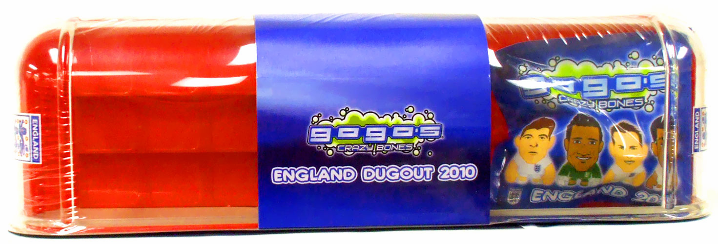Crazy Bones Gogo's England 2010 Football Dugout with Booster Pack