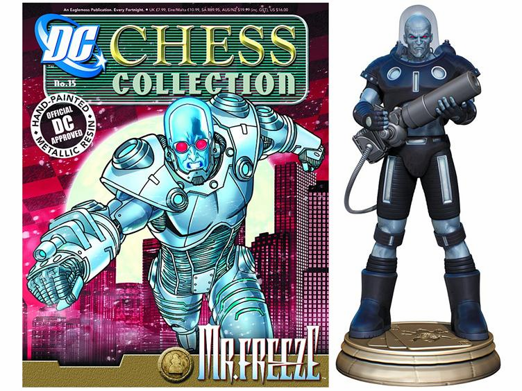 DC Chess Collection Black Pawn Mr. Freeze Magazine #15