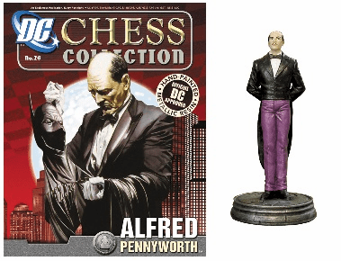 DC Chess Collection White Pawn Alfred Pennyworth Magazine #26