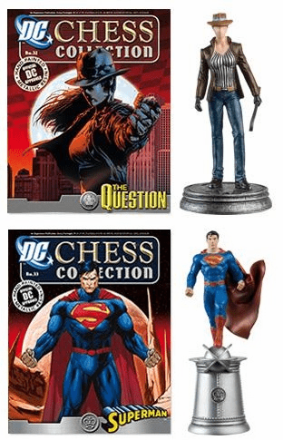 DC Chess Collection White Pawn Question and White King Superman Set