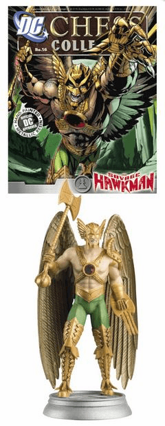 DC Chess Collection White Pawn Savage Hawkman Magazine #56