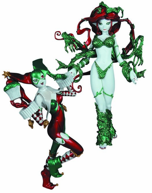 DC Collectibles Ame-Comi Poison Ivy and Harley Quinn Holiday 2 Pack