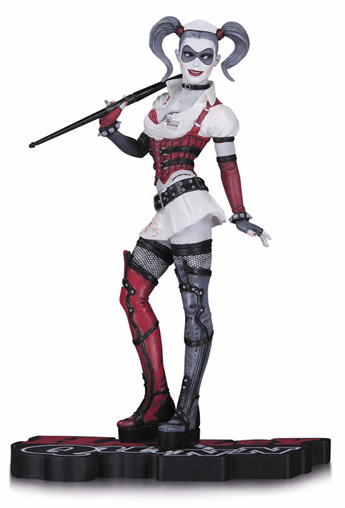 DC Collectibles Harley Quinn Red, Black & White Arkham Asylum  Statue