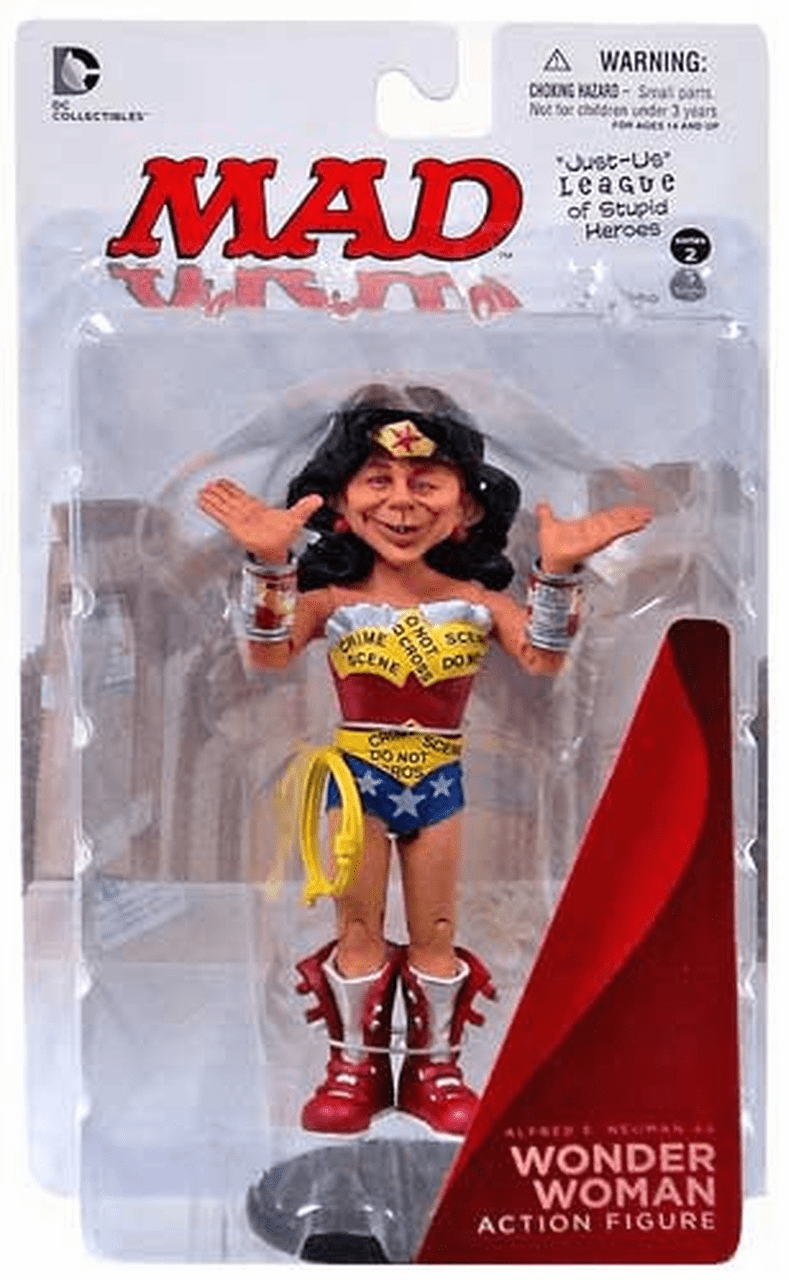 DC MAD Just Us League Alfred E. Neuman as Wonder Woman Figure