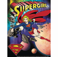 DC Comics Supergirl Up in the Sky 3D Matte Print