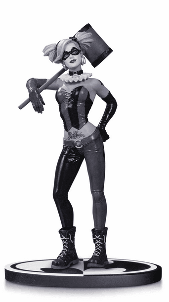 DC Direct Batman Black & White Lee Bermejo Harley Quinn Statue
