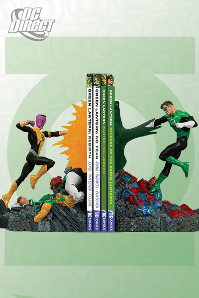 DC Direct Green Lantern vs Sinestro Bookends