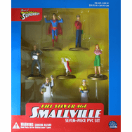 DC Direct Home of Superboy Silver Age Smallville PVC Set
