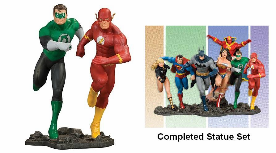 DC Direct JLA Build-a-Scene Part 3 Green Lantern and Flash Statue