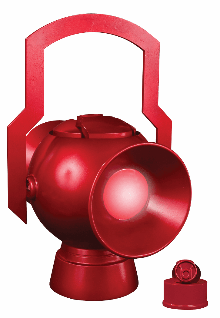 DC Direct JLA Trophy Room Prop Red Lantern Power Battery
