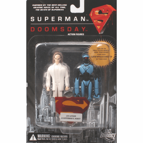 DC Direct Superman Doomsday Lex Luthor & Superman's Robot Figure