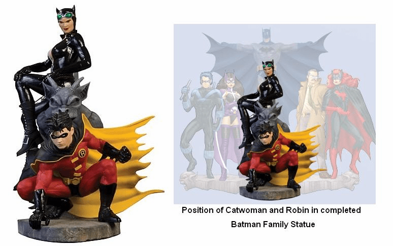 DC Direct The Batman Family Part 1 Catwoman and Robin Statue