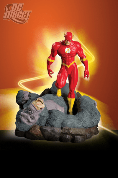 DC Direct The Flash vs. Gorilla Grodd Mini Statue