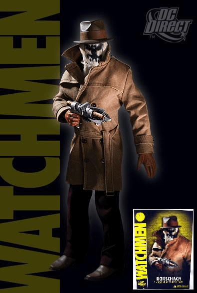 """DC Direct Watchmen Rorschach 1:6 Scale 13"""" Deluxe Collector Figure"""