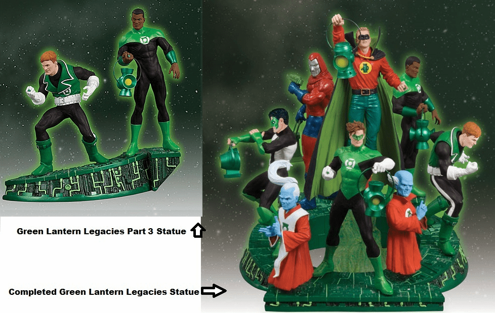 DC Green Lantern Legacies Part 3 John Stewart & Guy Gardner Statue