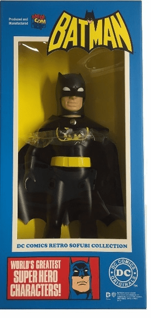 DC Hero Black Suit Batman Sofubi Vinyl Figure
