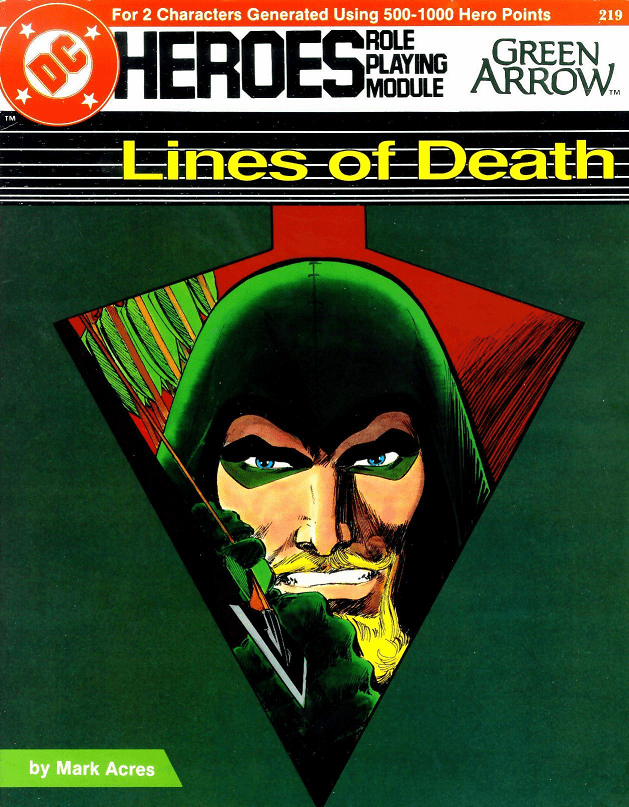 DC Heroes Green Arrow Lines of Death RPG Module