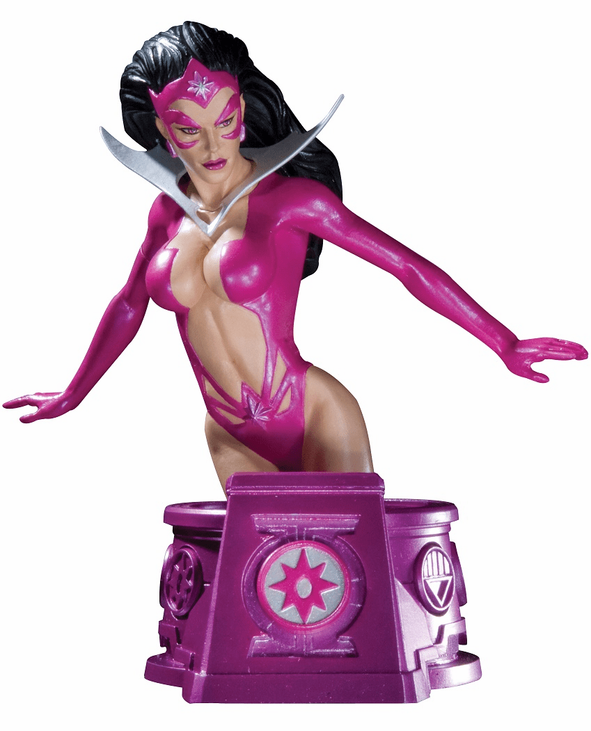 DC Heroes of the DCU Blackest Night Star Sapphire Violet Lantern Bust