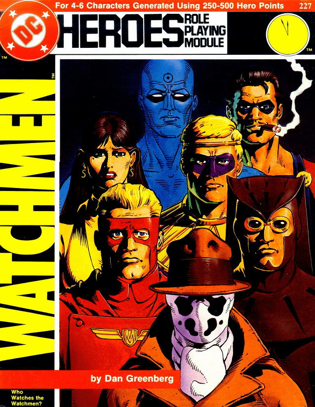 DC Heroes Watchman Who Watches the Watchmen RPG Module