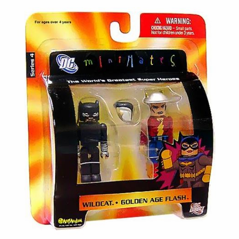 DC Minimates Wildcat & Golden Age Flash Figure Set