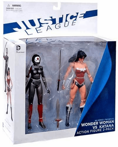 DC New 52 Justice League Wonder Woman vs Katana Figure Set