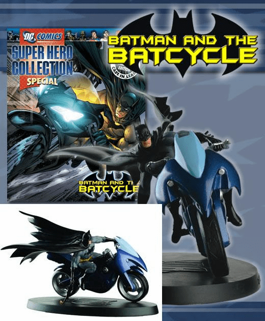 DC Super Hero Collection Magazine Special Batcycle Figurine