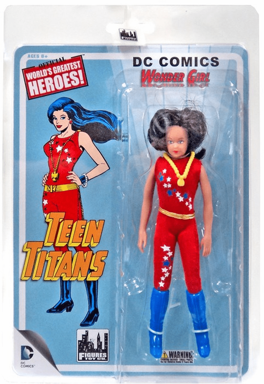 DC Teen Titans Mego Retro Wonder Girl Figure
