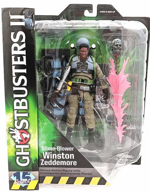 Diamond Select Ghostbusters 2 Slime-Blower Winston Zeddemore Figure