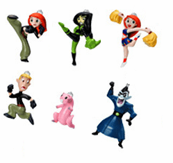 Disney Kim Possible Charm Gacha Capsule Set