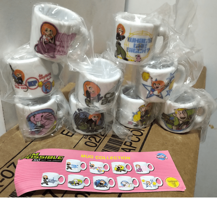 Disney Kim Possible Mug Gacha Capsule Set