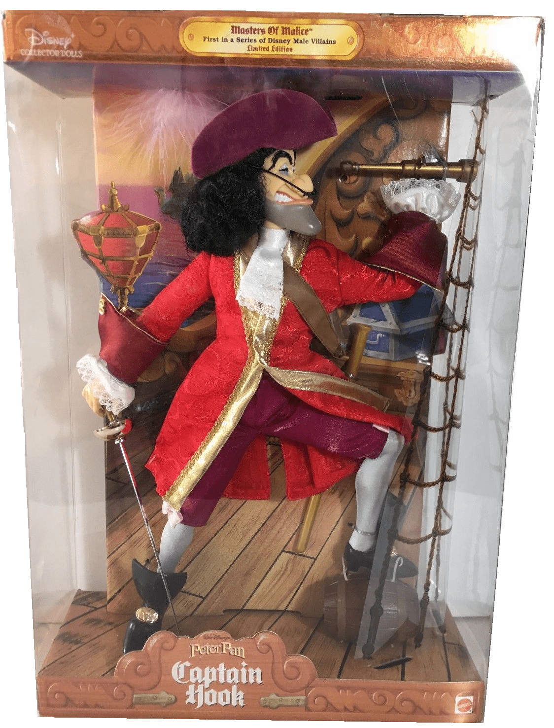 Disney Masters of Malice Captain Hook Doll
