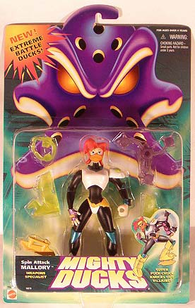 Disney Mighty Ducks Spin Attack Mallory Figure