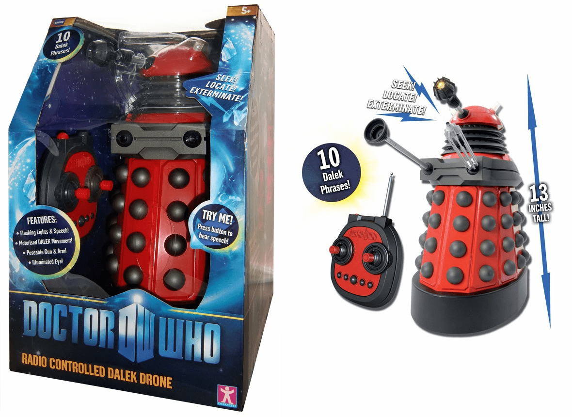 "Doctor Who 13"" Radio Controlled Dalek Drone Toy"