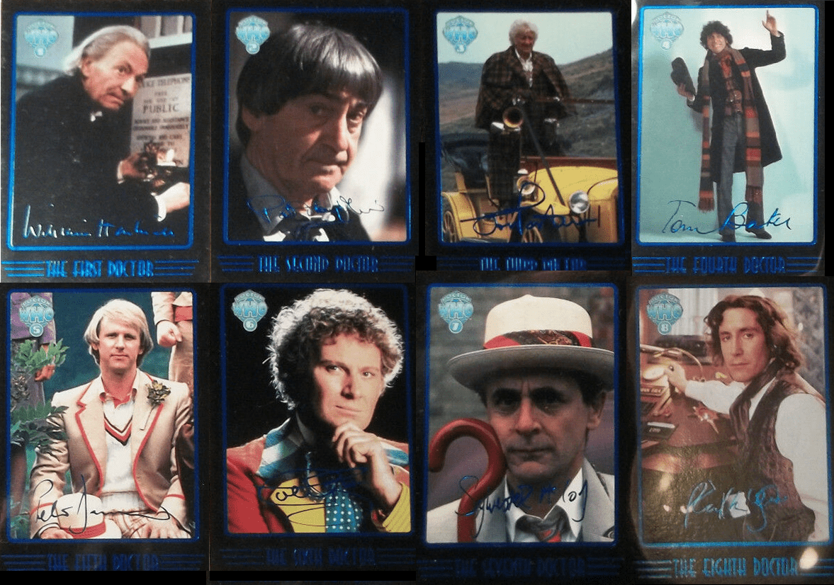Doctor Who Cornerstone Series 4 Doctor Facsimile Signature Foil Cards Set