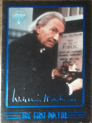 Doctor Who Cornerstone Series 4 First Doctor Facsimile Signature Foil Card