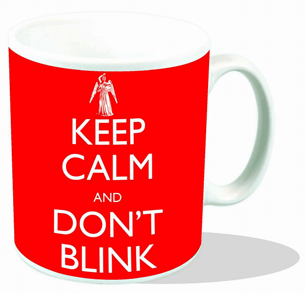 Doctor Who Keep Calm and Don't Blink Ceramic Mug