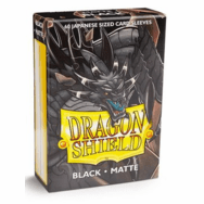 Dragon Shield Japanese Matte Black Card Sleeves
