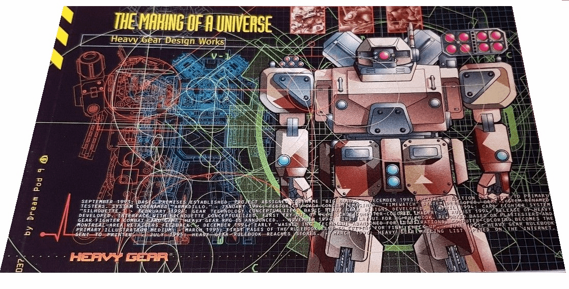 Dream Pod 9 Heavy Gear The Making of a Universe Design Works Book