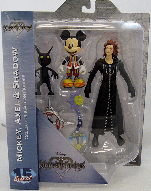 DST Kingdom Hearts Mickey Mouse, Axel, and Shadow Figure Set