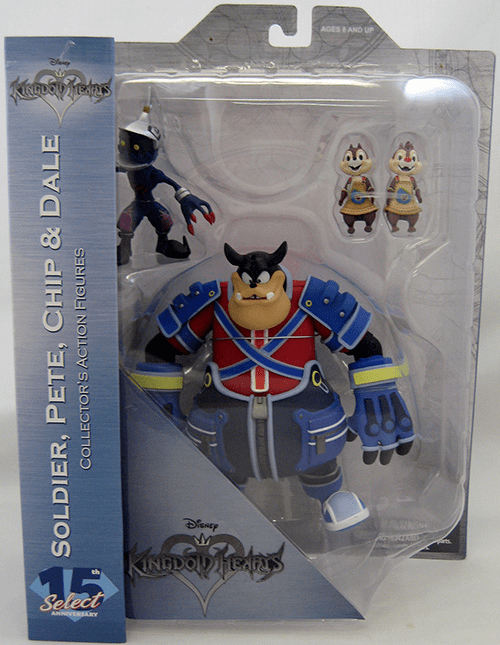 DST Kingdom Hearts Solider, Pete, Chip and Dale Figure Set