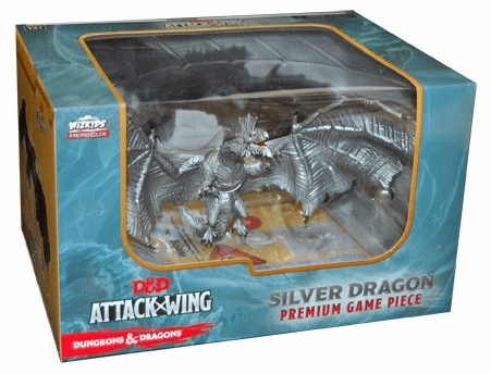 Dungeons & Dragons Attack Wing Premium Silver Dragon Figure