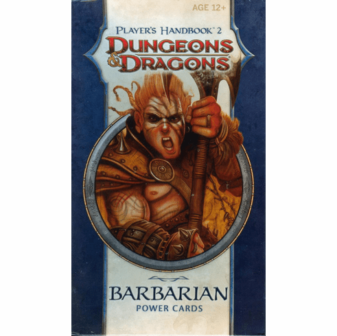 Dungeons & Dragons Player's Handbook 2 Barbarian Power Cards