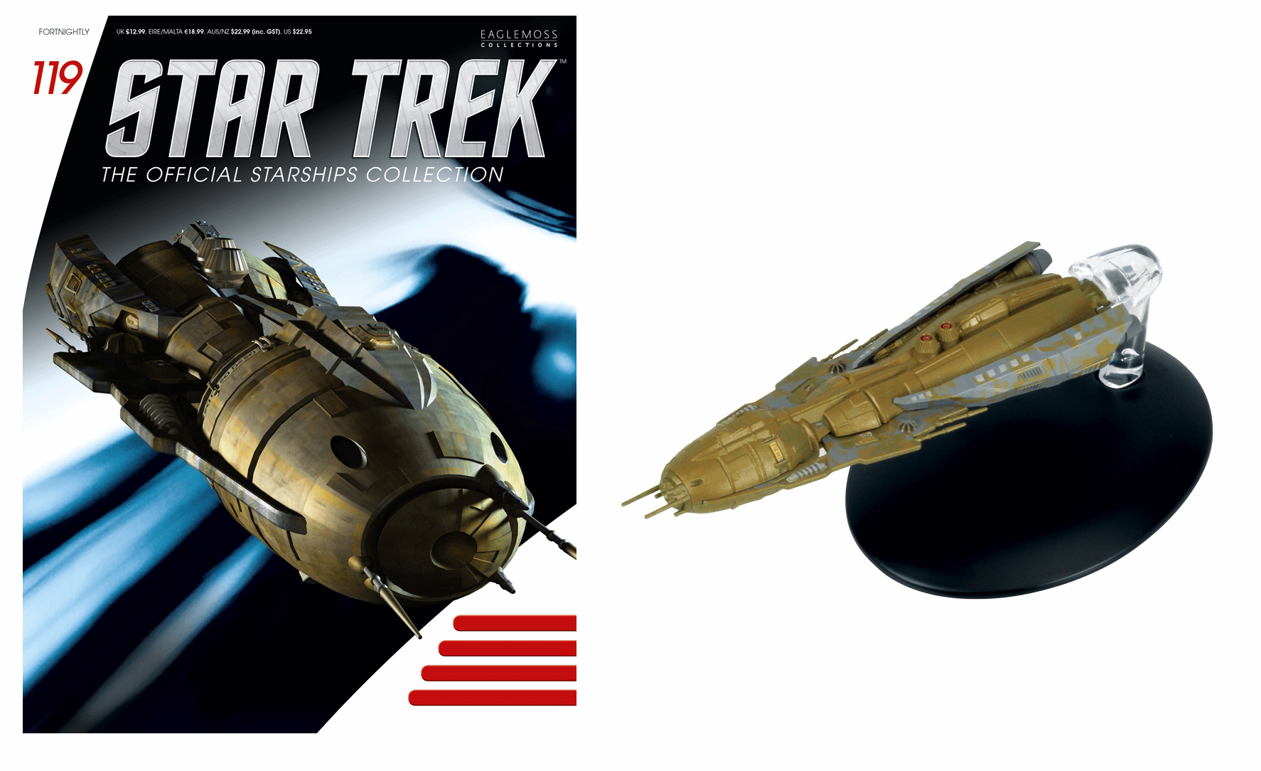 Eaglemoss Star Trek Ship Collection Magazine 119 Hirogen Holoship